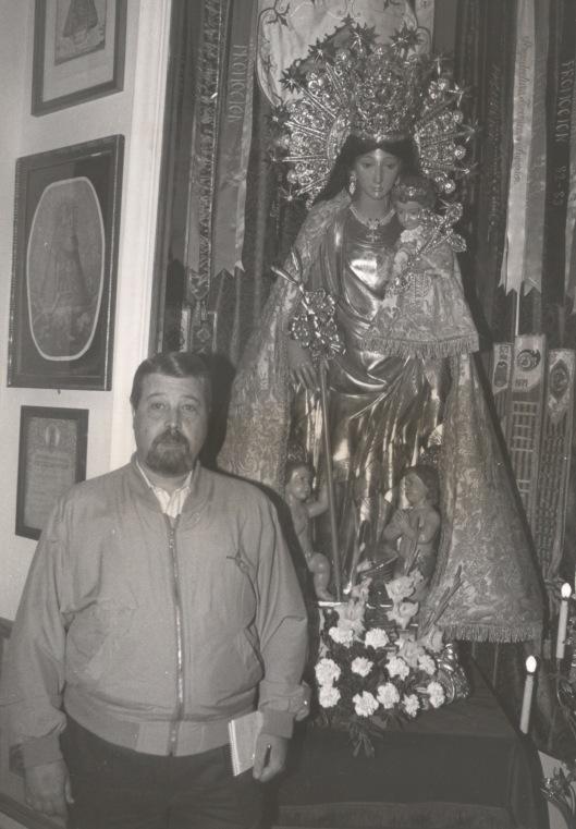 Con la imagen Peregrina en la Real Basílica en 1995